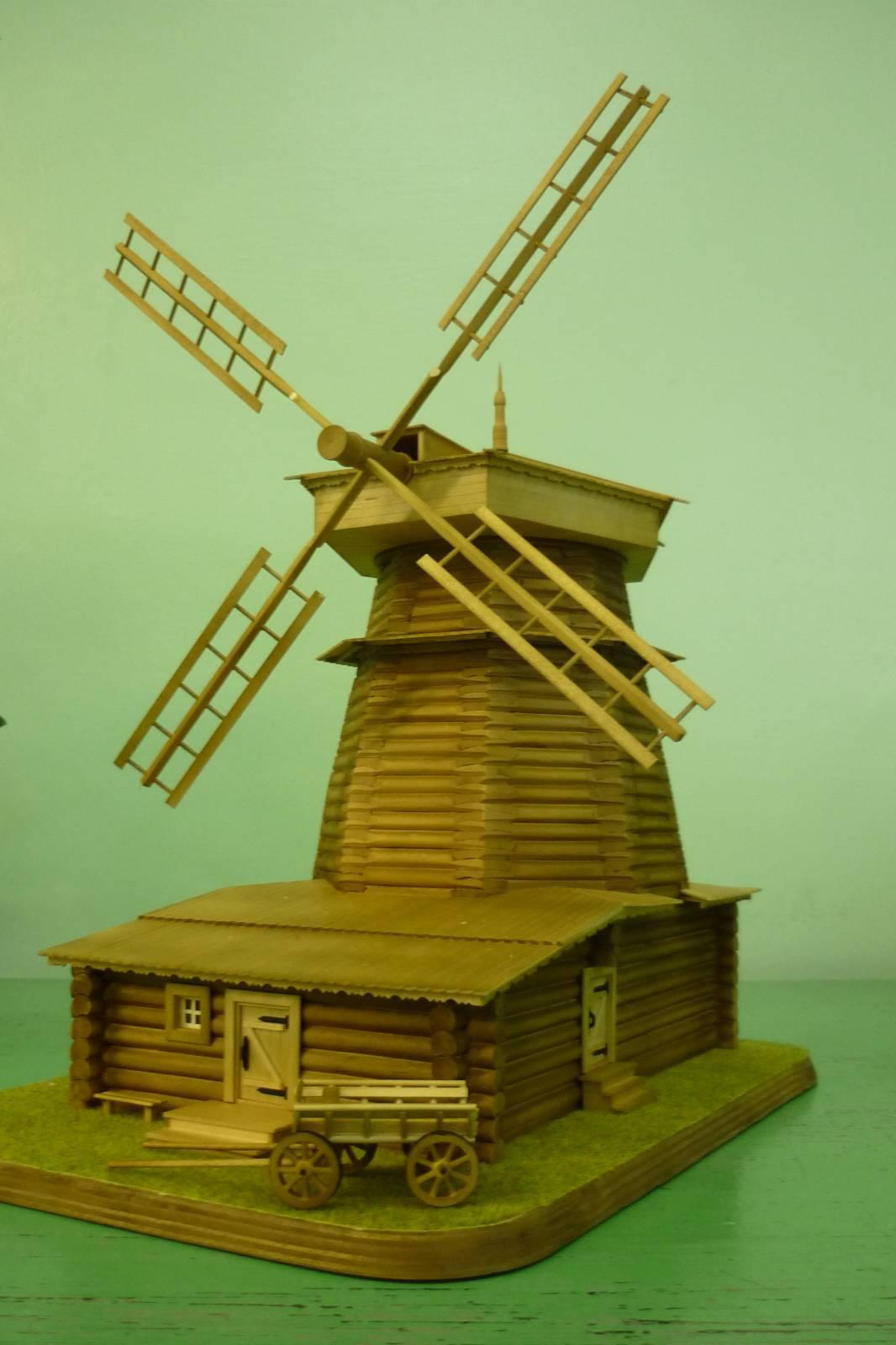 Поделки из дерева ветряная мельница 85